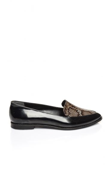 Günlük Ayakkabı 17K 1026 Siyah Rugan-Yılan